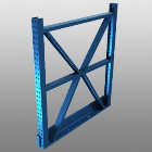 truss upright for grocery industry